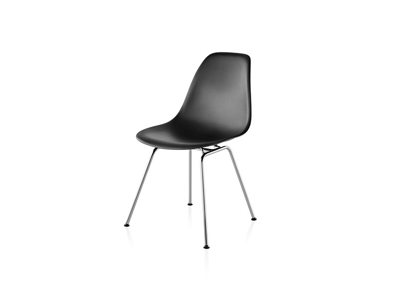 Eames Molded Plastic Side Chair 4 Leg Base