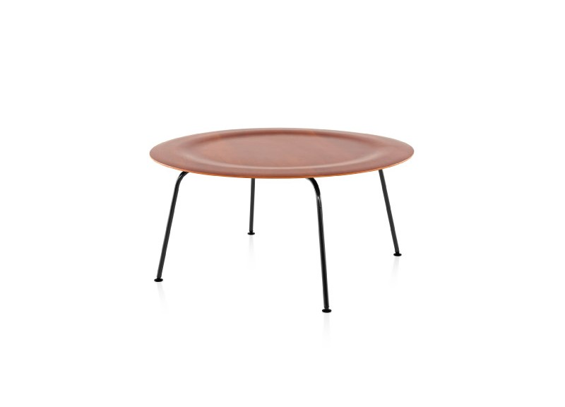 Eames Molded Plywood Coffee Table Three Chairs