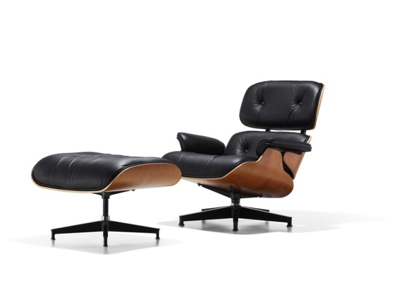 Herman miller eames lounge chair three chairs for Fauteuil bois eames