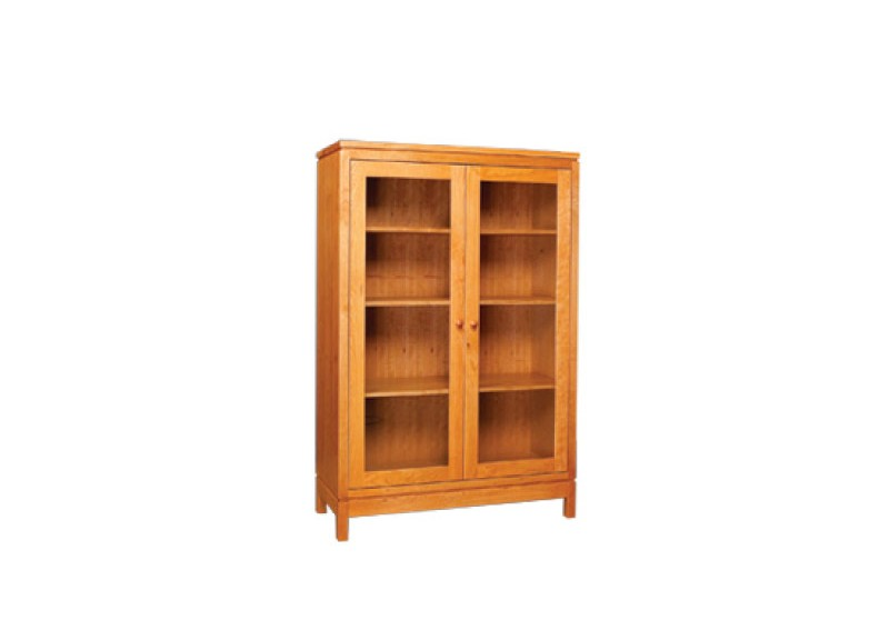 Franklin Glass Door Bookcase Three Chairs