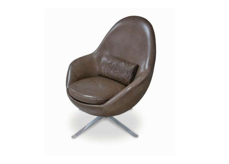 Jude Swivel Chair By American Leather At Three Chairs Co In